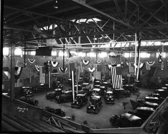 Muncie Fieldhouse Automobile Show, late 1920s, DMR Photo
