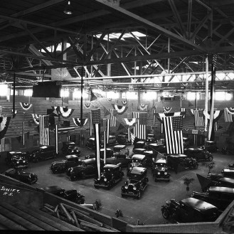 Muncie Fieldhouse Automobile Show, late 1920s, DMR Photo