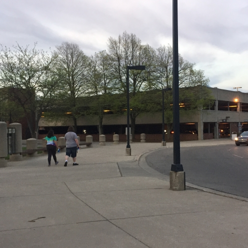 Emens parking garage, modern