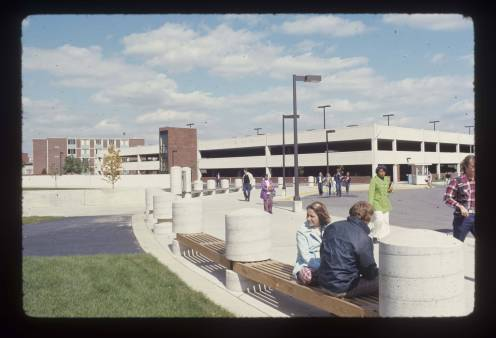 Emens parking garage, 1973, DMR Photo