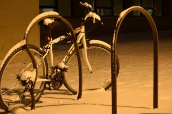 Snowy abandoned bike