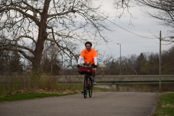 Exercising on the Cardinal Greenway