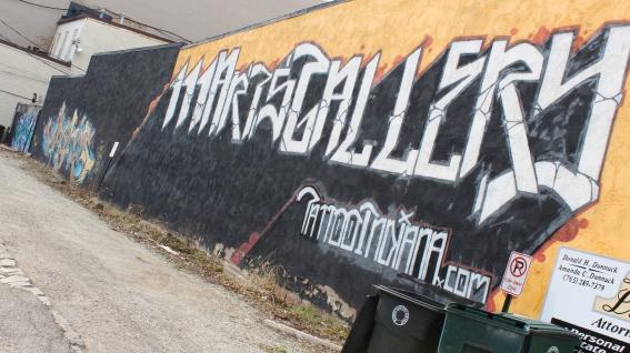 Graffiti in Downtown Muncie
