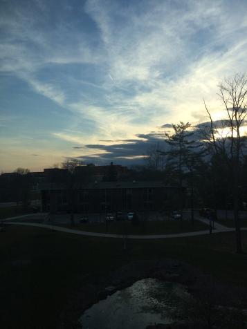 Evening sky over Muncie