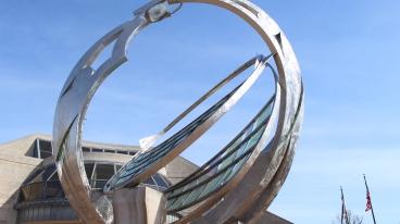 """Catalyst"" sculpture in Minnetrista"