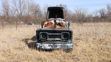 Rusty truck in the Sanitary District